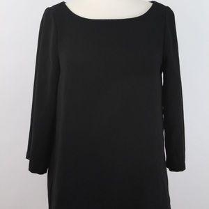 LOFT Boatneck Tunic Top  -Black, Size Medium